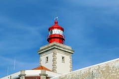 在cabo da roca的灯塔 免版税库存图片
