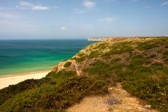 在Cabo de Sao Vincente,葡萄牙环境美化 免版税图库摄影