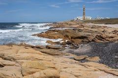 在Cabo Polonio的海岸 免版税库存照片