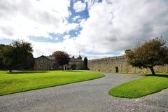 在Cahir城堡里面的庭院在爱尔兰 免版税库存照片