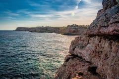 在calo des莫罗海滩的温暖的春日,马略卡,西班牙 库存照片