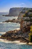 在calo des莫罗海滩的温暖的春日,马略卡,西班牙 库存图片