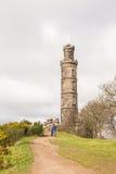 在Calton小山的纳尔逊纪念碑 免版税库存图片