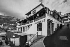 在Camara de罗伯斯,马德拉岛,葡萄牙钓鱼餐馆 图库摄影