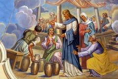 在Cana的婚姻 库存照片