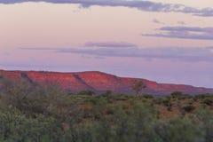 在Canyon国王的黄昏 库存图片
