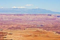 在Canyonlands犹他的拉萨勒山 免版税图库摄影