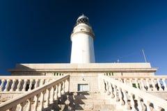 在Cap在海岛马略卡, Balaeric海岛,西班牙上的de Formentor的灯塔 免版税库存照片