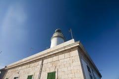 在Cap在海岛马略卡, Balaeric海岛,西班牙上的de Formentor的灯塔 库存照片