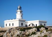 在Cap de Cavalleria, Menorca的灯塔 库存图片