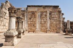 在Capernaum的古老犹太教堂 免版税库存图片
