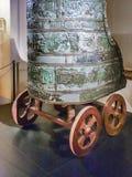 在Capitoline博物馆,罗马,意大利的古老争斗运输车 免版税库存图片