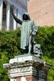 在Capitoline小山的Cola di Rienzo纪念碑在罗马 免版税库存图片