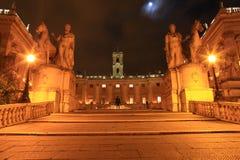 在Capitoline小山,罗马,意大利的Palazzo Senatorio 免版税库存图片