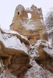 在Cappadocia的冬天 免版税库存照片