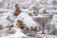 在Cappadocia的冬天 库存照片