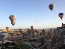 在Cappadocia2的热空气气球 库存照片