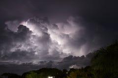 在Caribe的闪电 免版税库存图片