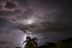 在Caribe的闪电 库存图片
