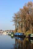 在Carnforth,兰开夏郡的兰卡斯特运河 免版税图库摄影