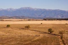 在Carpathians附近的横向 库存照片