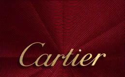 在cartier上写字在显示 库存照片