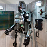 在Cartoomics的太空堡垒卡拉狄加机器人2014年 库存照片
