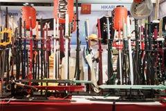 在Cartoomics的日本刀剑2014年在米兰,意大利 免版税图库摄影