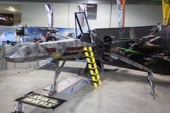 在Cartoomics的X翼starfighter 2014年 库存照片