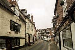 在Cartway, Bridgnorth的老英国建筑学 库存照片