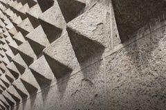 在Casa de los Picos Fachade的石金字塔样式在塞戈维亚, S 图库摄影