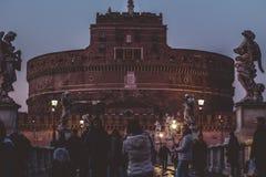在castel Sant'Angelo的看法 库存图片