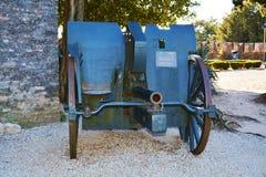 在Castello,科内利亚诺的战争大炮 免版税库存照片