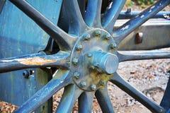 在Castello,轮子细节,科内利亚诺的战争大炮 库存图片