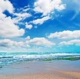 在Castelsardo的云彩 免版税库存照片