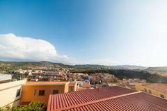 在Castelsardo的云彩 库存图片