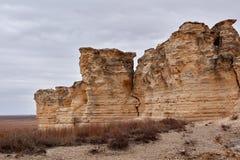 在Castle Rock的被腐蚀的石灰石形成 库存图片