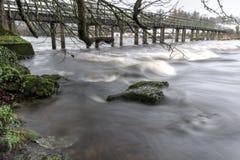 在Castleconnell 2的人行桥 库存图片