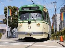 在Castro的无轨电车 库存照片