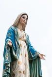 在Cathedal Chantaburi,泰国的圣母玛丽亚雕象。 库存图片