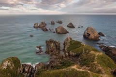 在Catlins海岸的矿块点 免版税库存照片