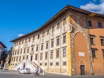 在Cavalieri广场的惊人的豪宅在比萨- Carovana宫殿叫Scuola Normale Superiore大学-托斯卡纳 免版税库存照片