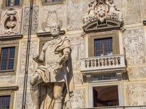 在Cavalieri广场的惊人的豪宅在比萨- Carovana宫殿叫Scuola Normale Superiore -托斯卡纳意大利 库存照片