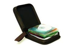 在CD的箱子的CD 图库摄影