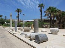 在Cesareia的考古学挖掘 免版税库存照片