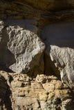 在Chaco峡谷的岩石艺术 库存照片