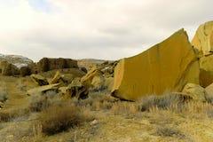在Chaco峡谷的废墟 图库摄影