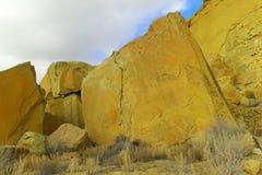 在Chaco峡谷的废墟 免版税库存图片