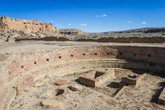 在Chaco峡谷的Kiva 库存图片