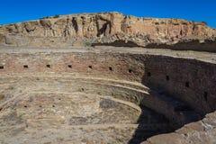 在Chaco峡谷的Kiva 免版税库存照片
